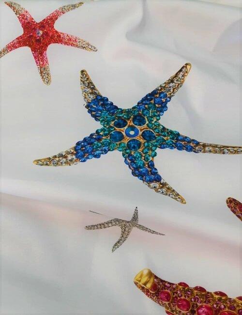 Rasatello stretch fantasia stelle marine