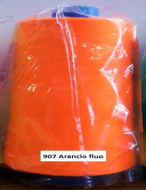 Cucirini tre stelle mt 5000 poliestere arancio fluo