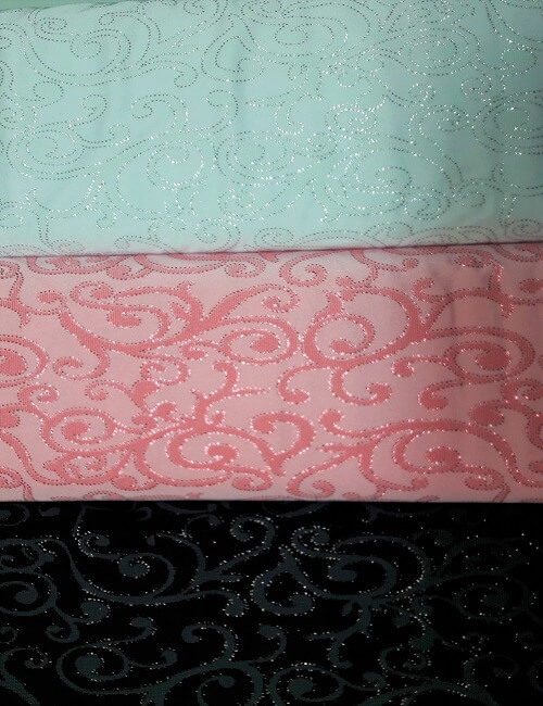 Licra glitter rosa bianco nero