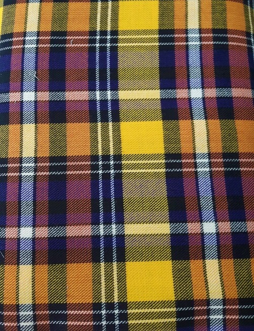 Tartan scozzese giallo lana 100%