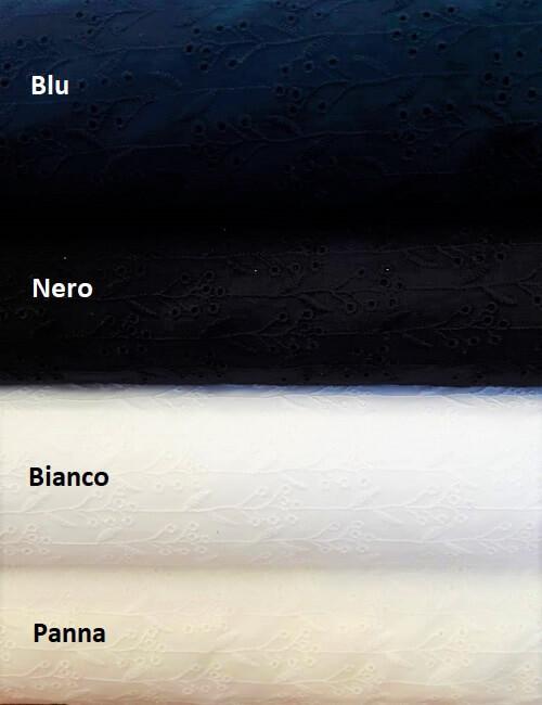 San gallo nero blu bianco e panna