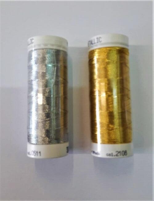 Filo metallico oro argento mt 100