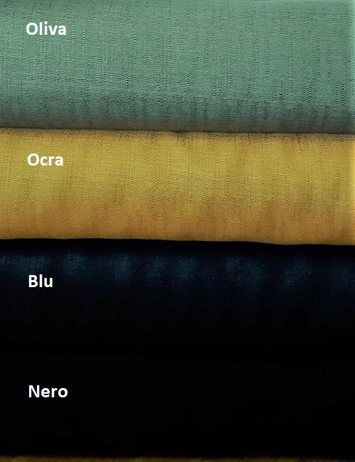 viscosa 100% effetto lino