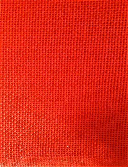 tela ricamo 110 fori rosso cotone 100% alt. cm 180