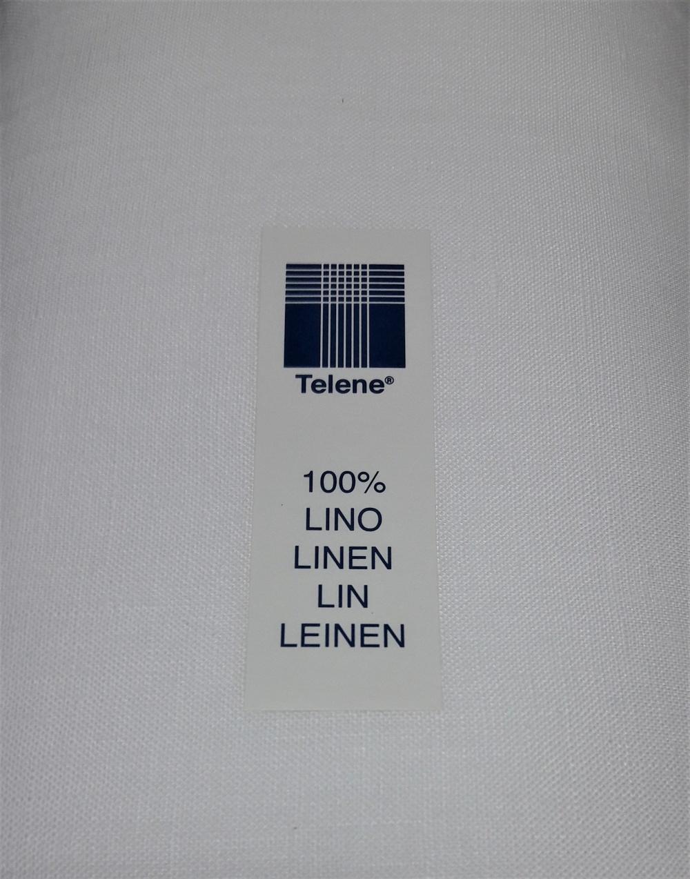 tela di lino 100% bianco altezza 70, 90, 120, 180