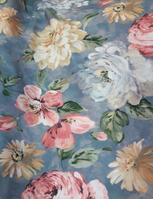 Tovaglia antimacchia in Teflon a fiori