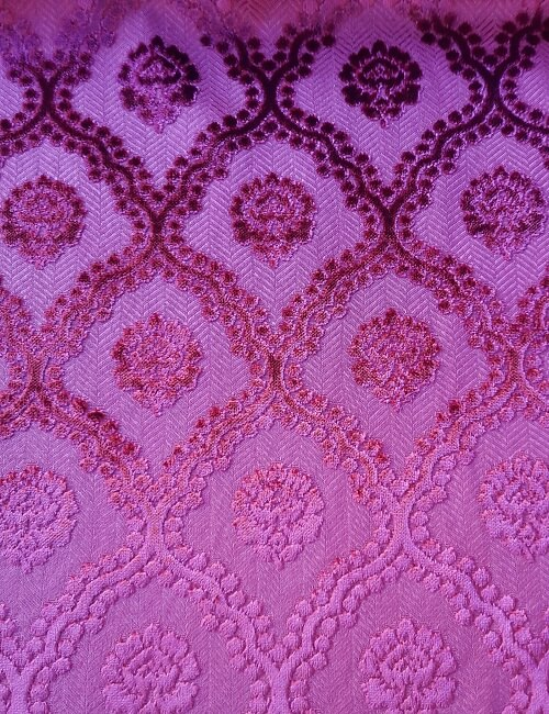 velluto damasco rosa antico