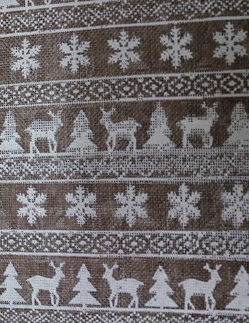 tela yuta tipo sacco fantasia con renne