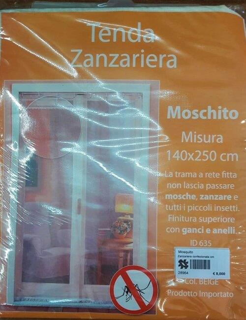 zanzariera confezionata misura 140 x 250